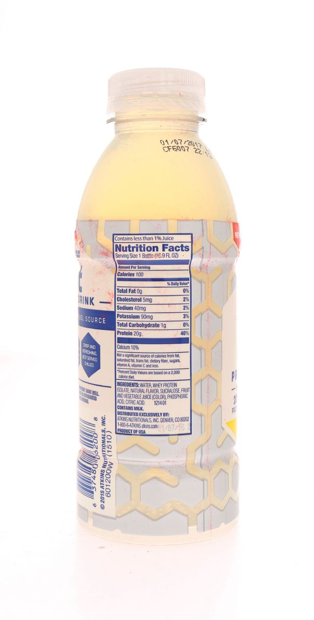 Atkins Lift Protein Drink: Atkins Lemon Facts