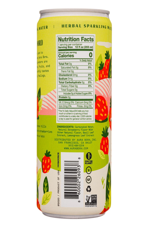 Aura Bora: AuraBora-12oz-2020-HerbalSparklingWater-BasilBerry-Facts