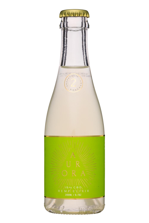 Aurora Elixirs: Aurora-7oz-HempElixer-Grapefruit-Front