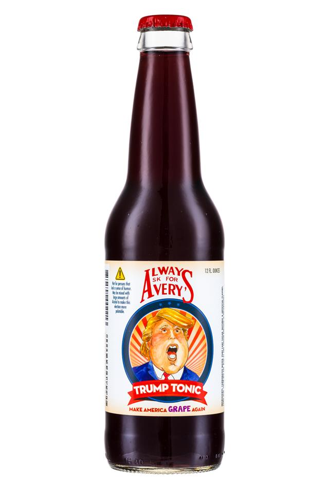 Avery's Presidential Sodas: Avery-TrumpTonic-Front