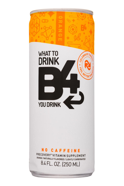 B4: SunshineSupplements-8oz-B4-VitaminSupplement-Orange-Front