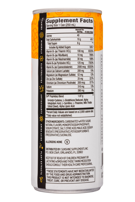 B4: SunshineSupplements-8oz-B4-VitaminSupplement-Orange-Facts