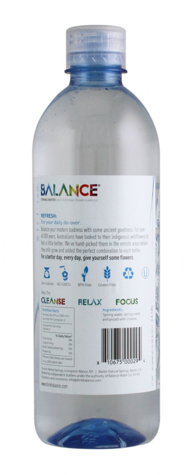 Balance Water: Balance Refresh Facts SM