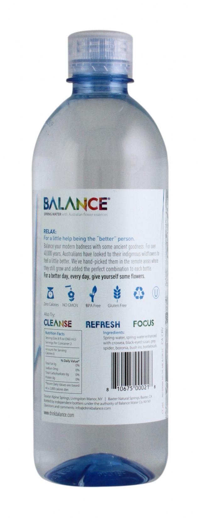 Balance Water: Balance Relax Facts SM