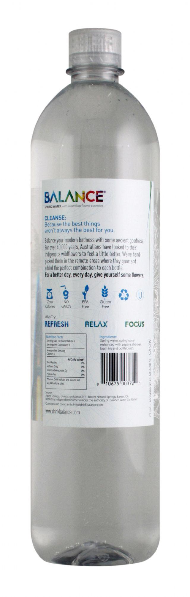 Balance Water: Balance Cleanse Facts