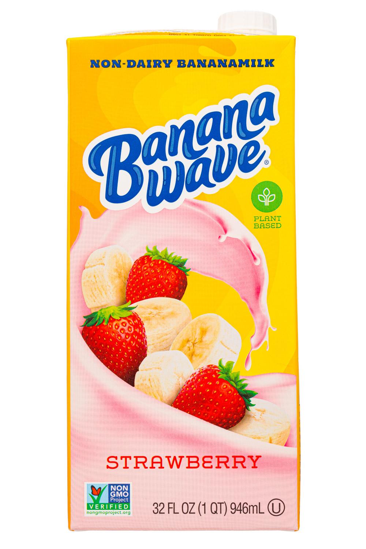 Banana Wave: BananaWave-32oz-2020-Milk-Strawb-Front