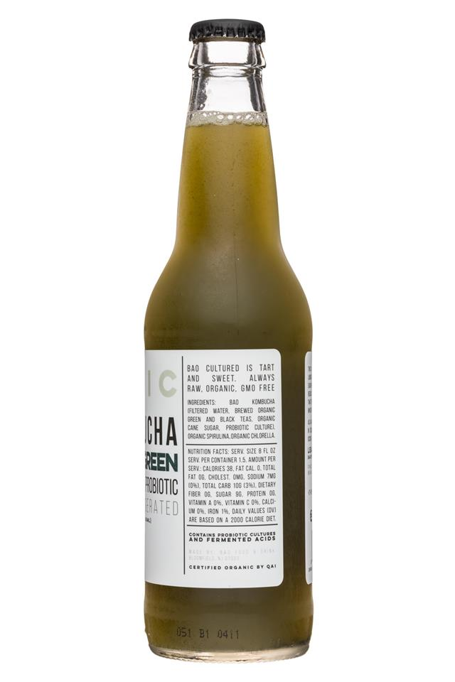 BAO: BaoFoods-Kombucha-12oz-SuperGreen-Facts