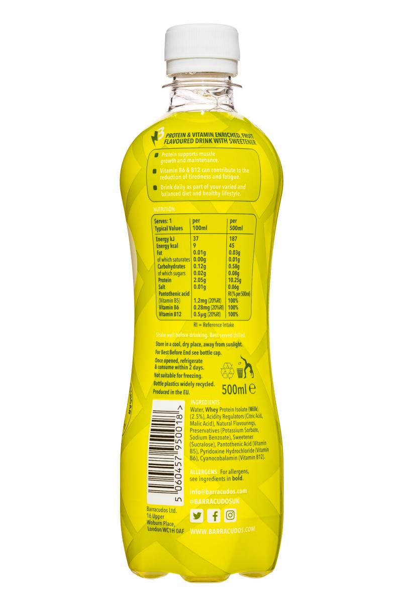 Barracudos: Barracudos-ProteinVitaminWater-CoconutPineapple-Facts