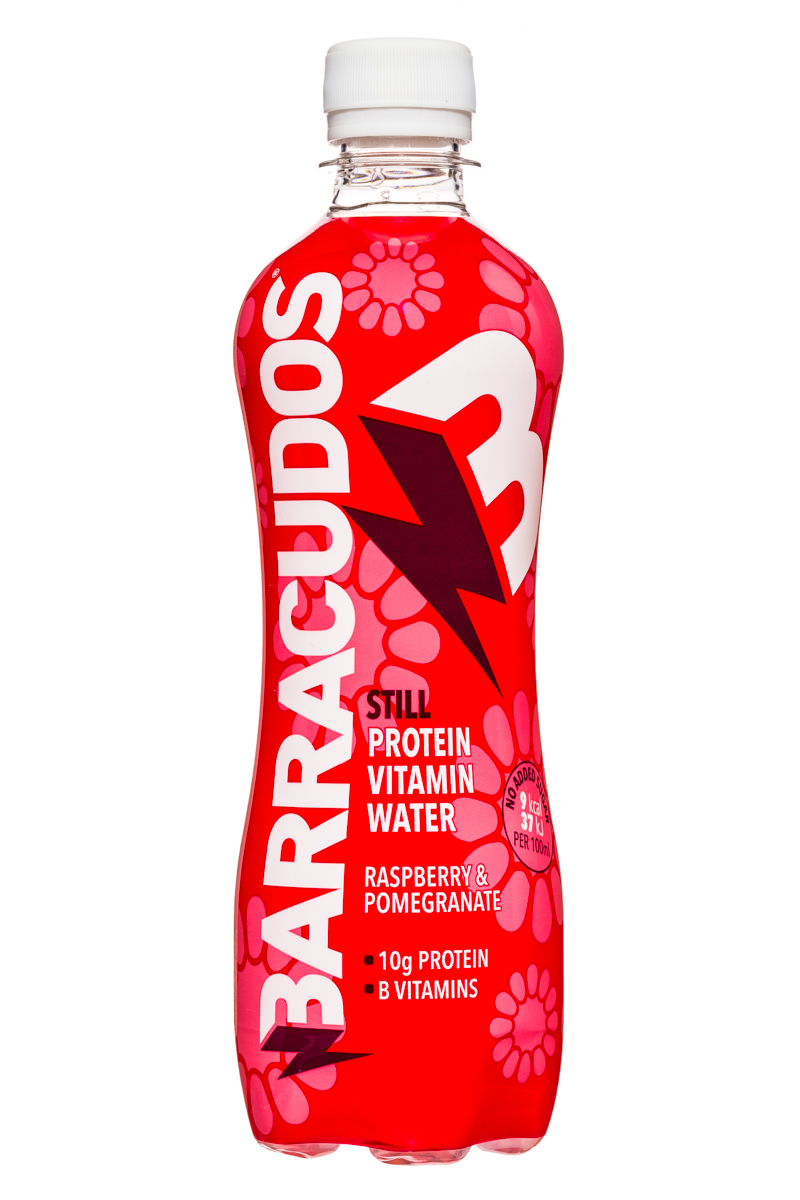 Barracudos: Barracudos-ProteinVitaminWater-RaspberryPom-Front