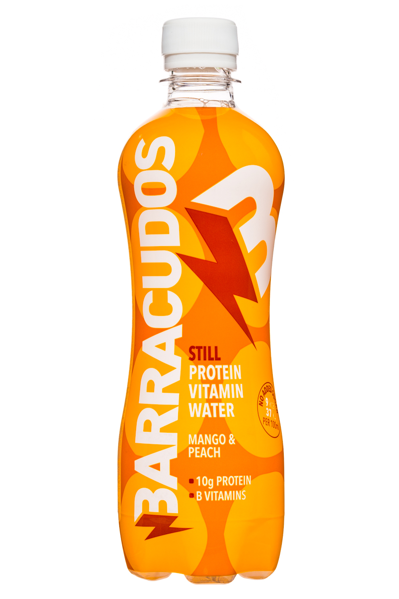 Barracudos: Barracudos-ProteinVitaminWater-MangoPeach-Front