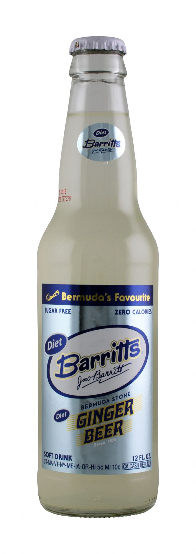 Barritts Ginger Beer: Barritts SugarFree Front