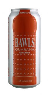 BAWLS Guarana Orange - 16 Oz