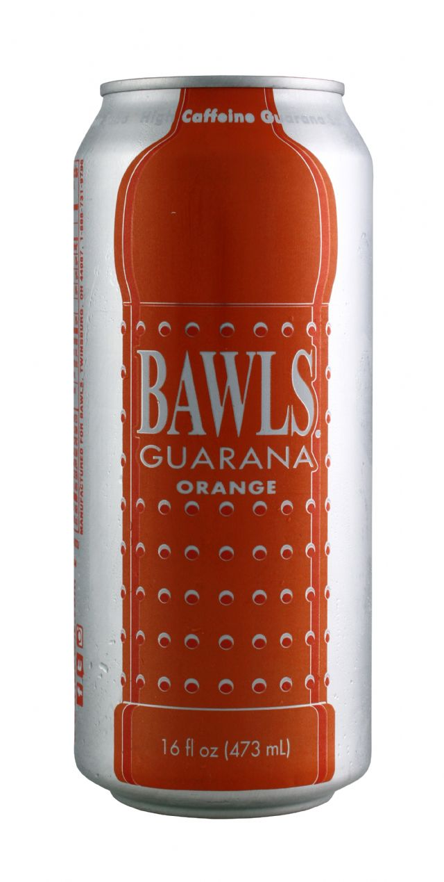 BAWLS Guarana: Bawls Orange Front
