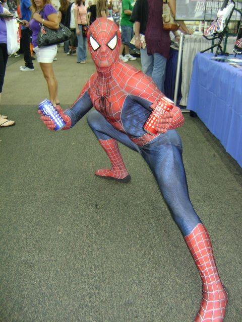 BAWLS Guarana: Spiderman with BAWLS Guarana at Florida Supercon!