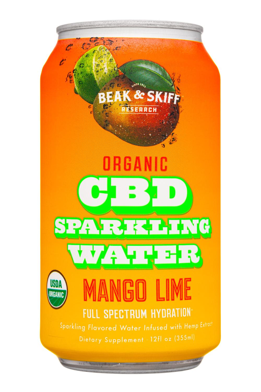Organic CBD Sparkling Water Mango Lime
