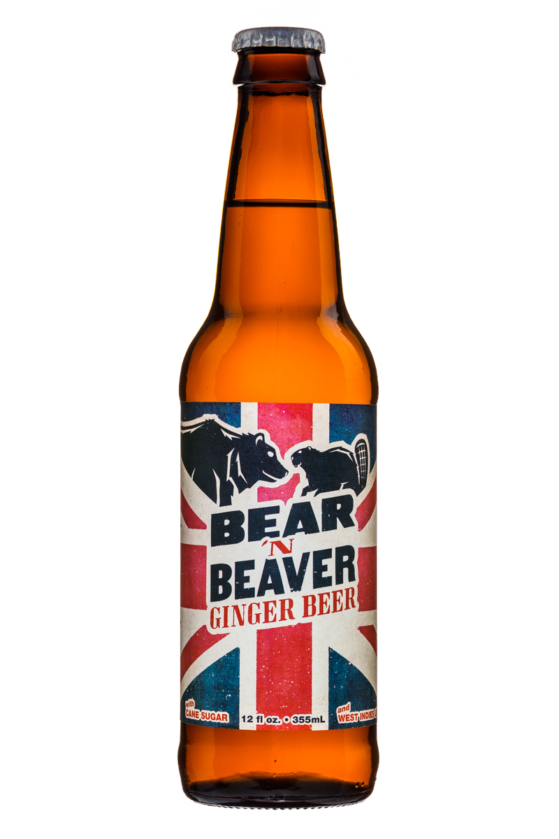 Bear N' Beaver: BearNBeaver-GingerBeer-12oz-Front