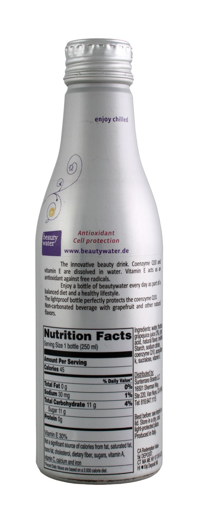Beauty Water: BeautyWater Q10 Facts