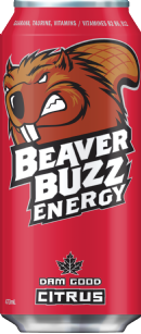 Beaver Buzz Energy: citrus-no-water