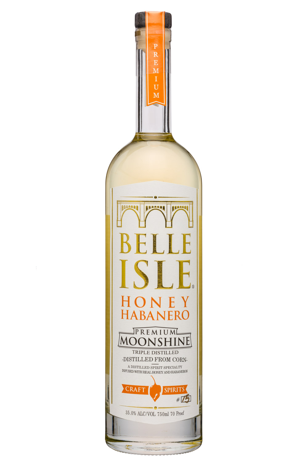 Belle Isle Craft Spirits: BelleIsle-750ml-Moonshine-HoneyHabanero