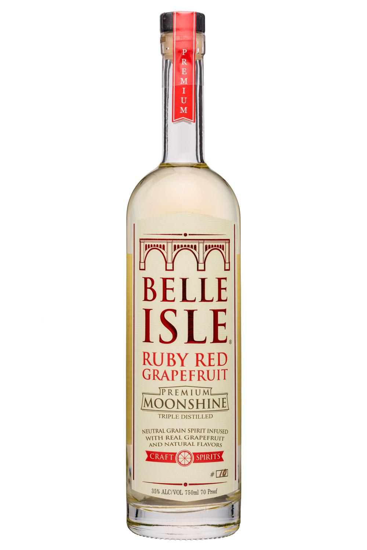 Belle Isle Craft Spirits: BelleIsle-750ml-Moonshine-RubyRedGrapefruit