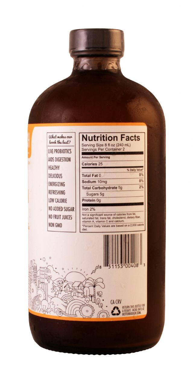 Better Booch Premium Kombucha Tea: BetterBooch GoldenPear Facts