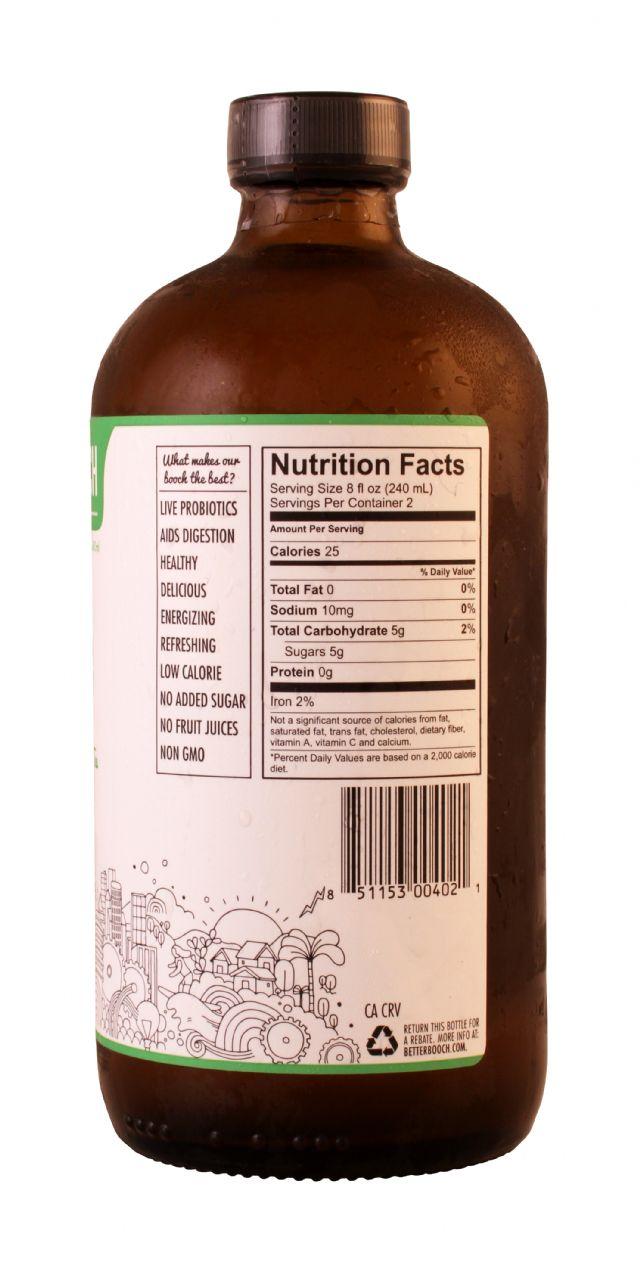 Better Booch Premium Kombucha Tea: BetterBooch Ginger Facts