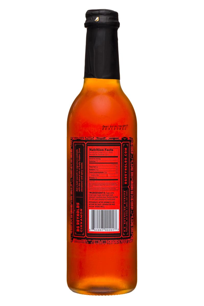 BG Reynolds: BGReynolds-13oz-TropicalSyrup-Cinnamon-Facts