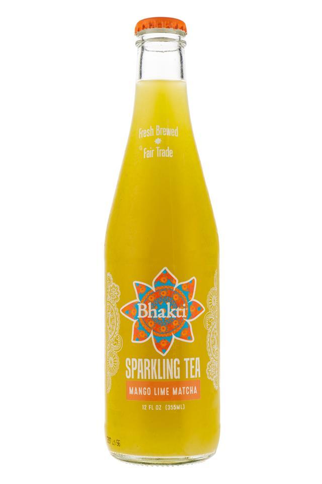 Bhakti Sparkling Tea: Bhakti-SparklingTea-MangoLimeMatcha-Front