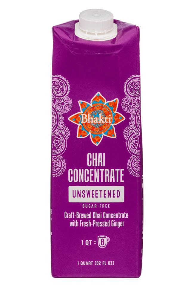Bhakti Chai: Bhakti-32oz-Concentrate-Unsweet-Front
