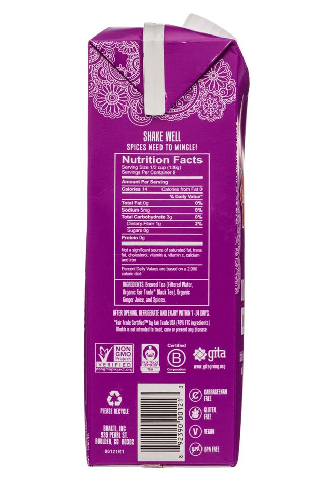 Bhakti Chai: Bhakti-32oz-Concentrate-Unsweet-Facts