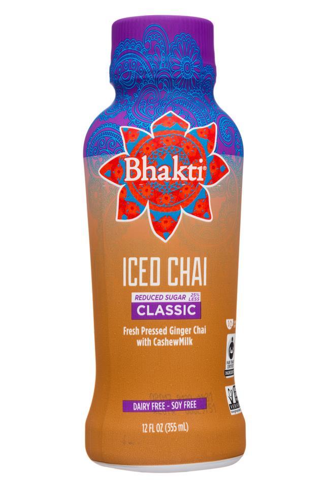 Bhakti Chai: Bhakti-12oz-IcedChai-Classic-LessSugar-Front