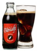 BibiCaffè Sparkling Espresso Drink: Bottle and glass