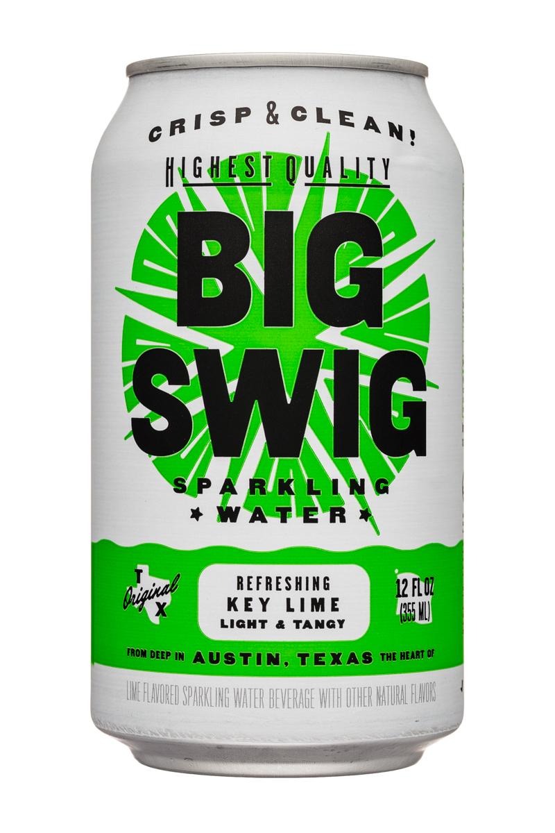 Big Swig: BigSwig-12oz-SparklingWater-KeyLime-Front