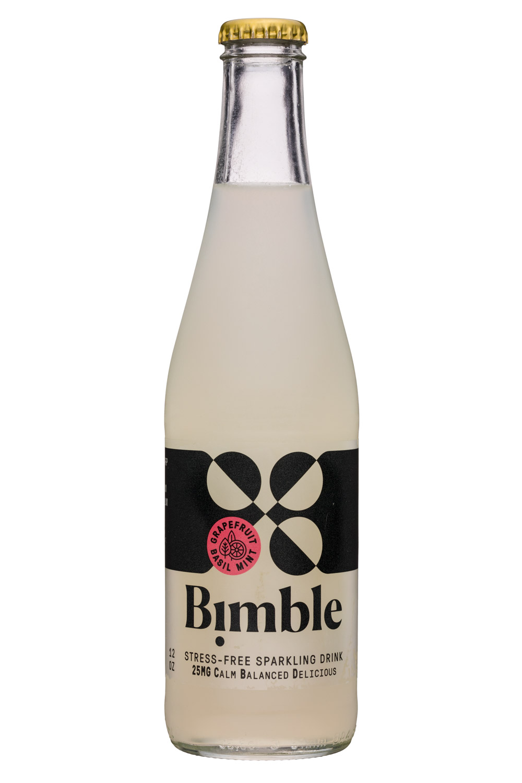 Bimble: Bimble-12oz-SparklingCBD-GrapefruitBasilMint-Front