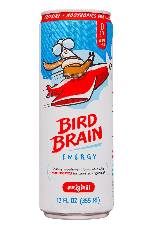 Bird Brain Energy: BirdBrain-12oz-2020-Energy-Original-Front