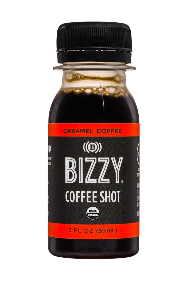 Bizzy Coffee Shots: Bizzy-2oz-CoffeeShot-Caramel-Front