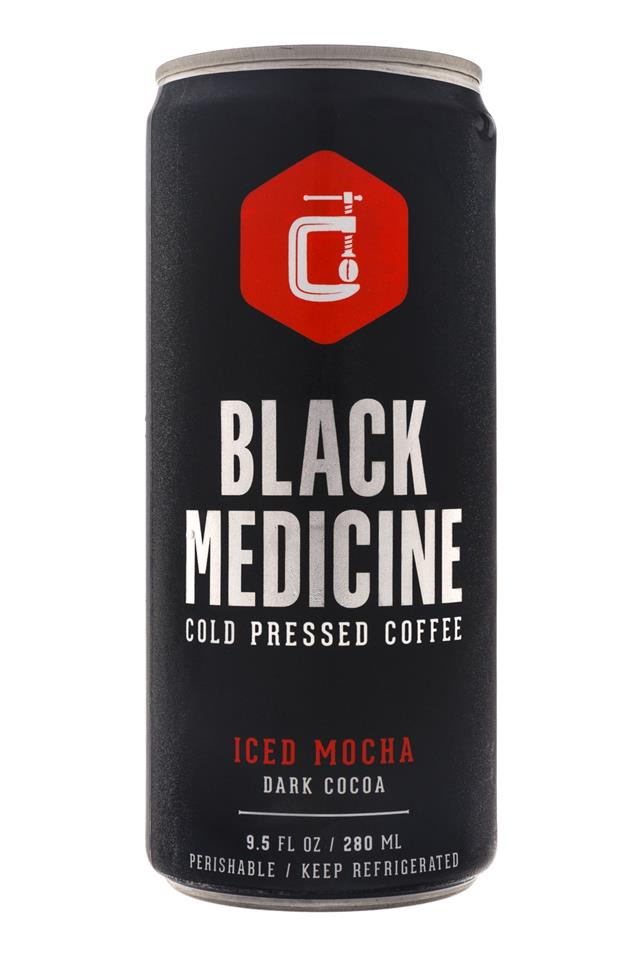 Black Medicine Iced Coffee: BlackMedicine-10oz-ColdPress-IcedMocha-DarkCocoa-Front