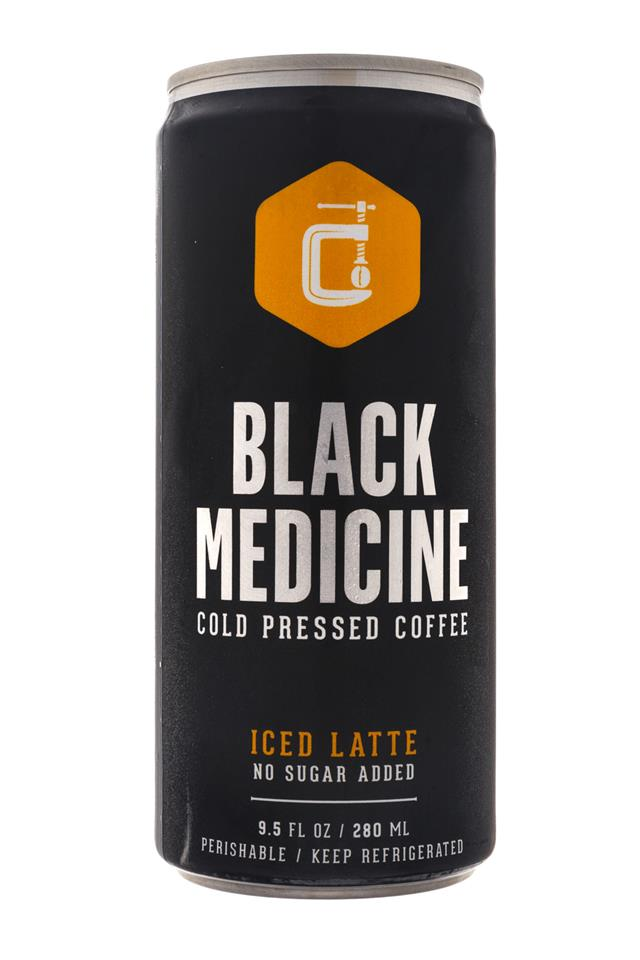 Black Medicine Iced Coffee: BlackMedicine-10oz-ColdPress-IcedLatte-NoSugar-Front