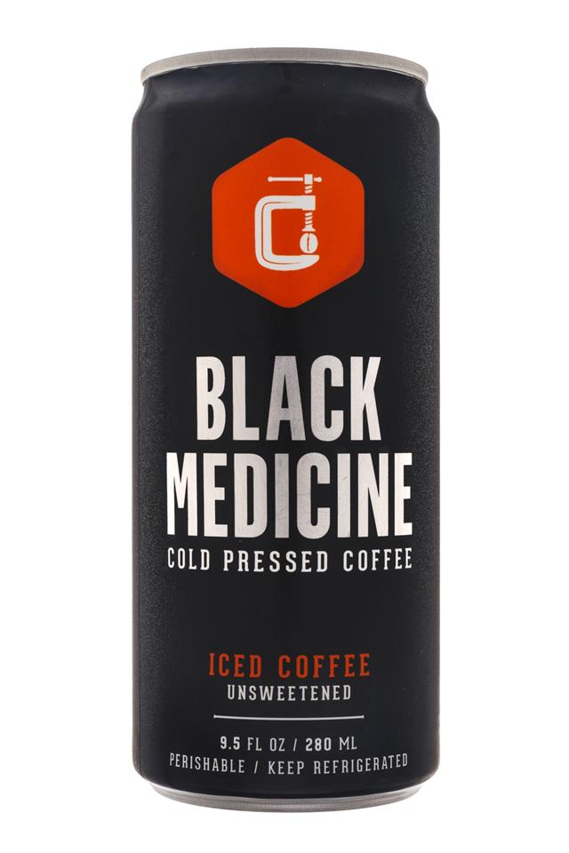 Black Medicine Iced Coffee: BlackMedicine-10oz-ColdPress-IcedCoffee-Unsweetened-Front
