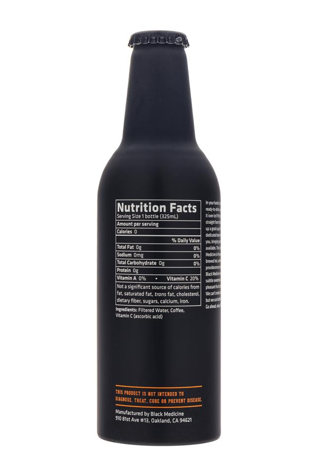 Black Medicine Iced Coffee: BlackMedicine-IcedCoffee-Facts