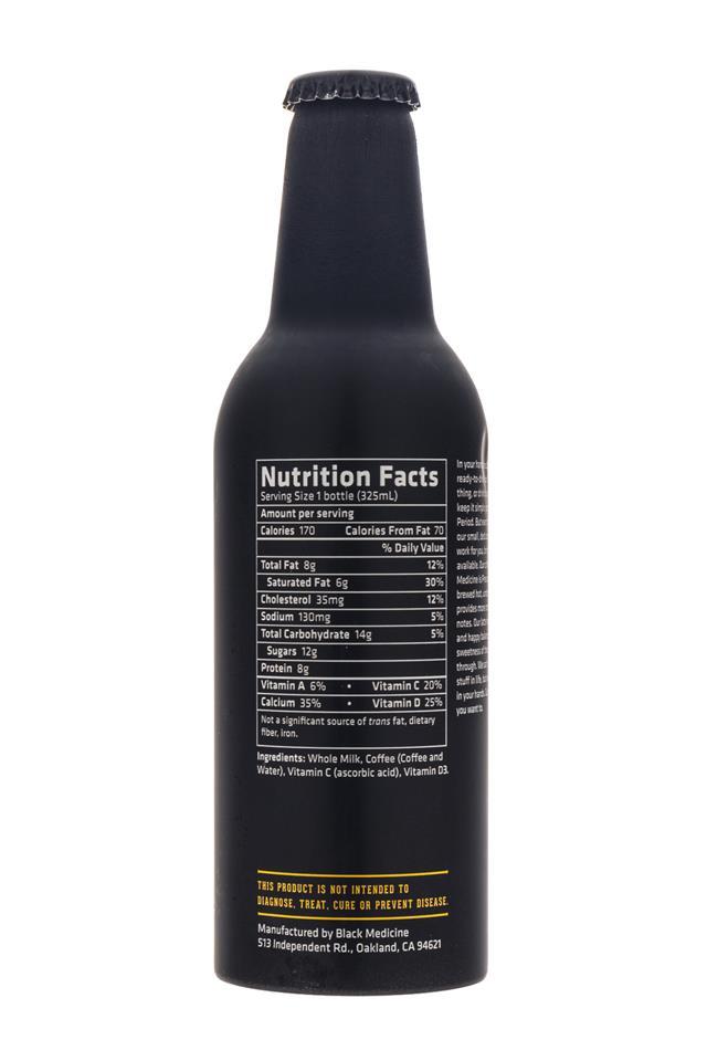 Black Medicine Iced Coffee: BlackMedicine-IcedLatte-Facts