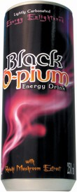 Black O-pium Energy Drink Carbonated