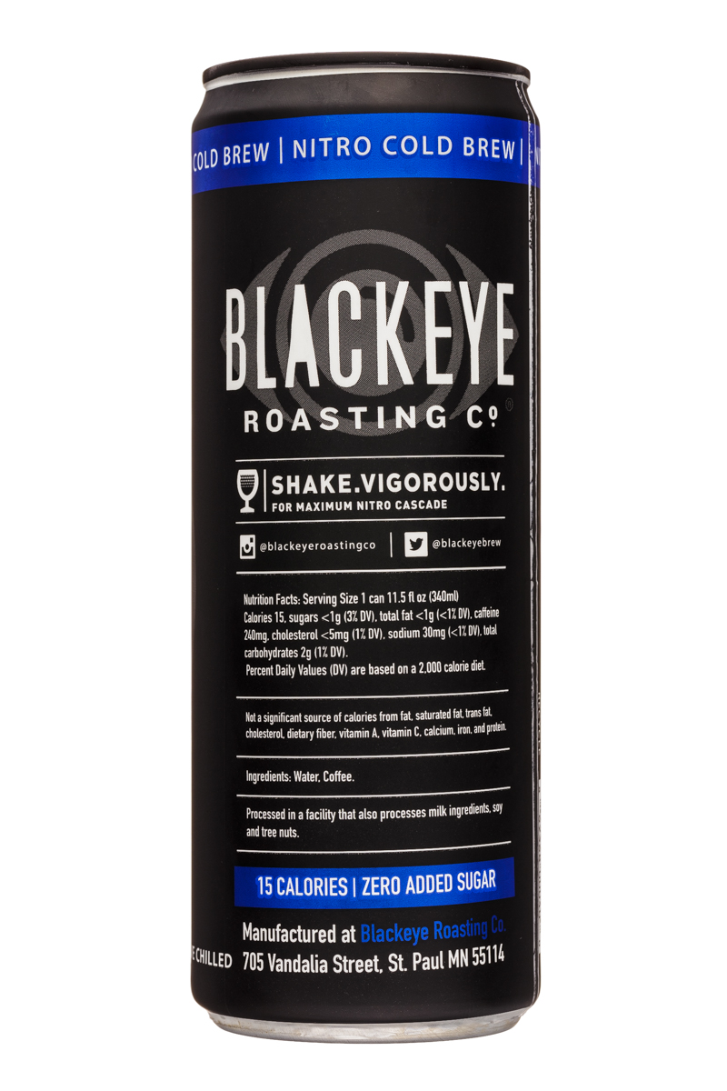 Blackeye Roasting Co: BlackeyeRoastingCo-12oz-NitroColdBrew-Facts