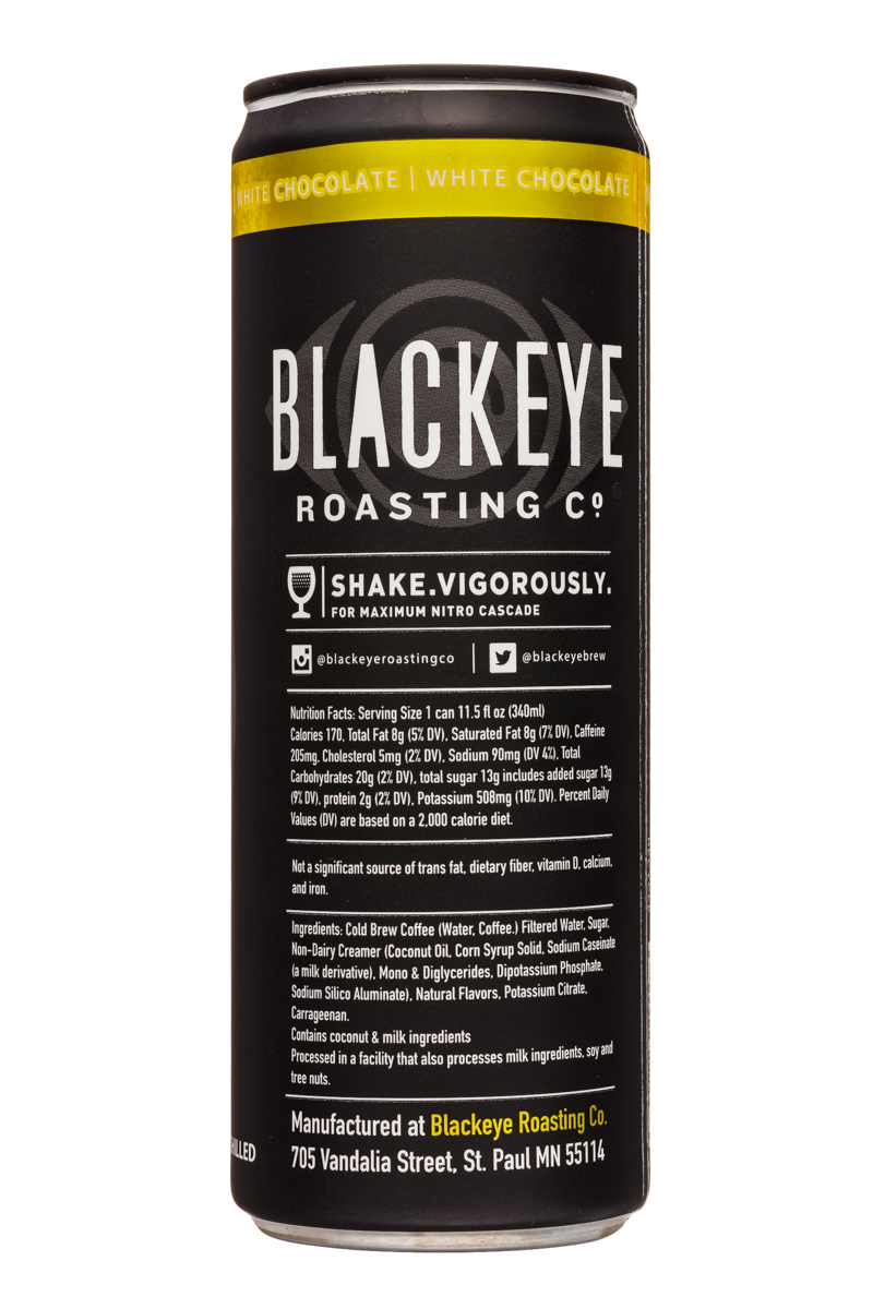 Blackeye Roasting Co: BlackeyeRoastingCo-12oz-WhiteChoc-Facts