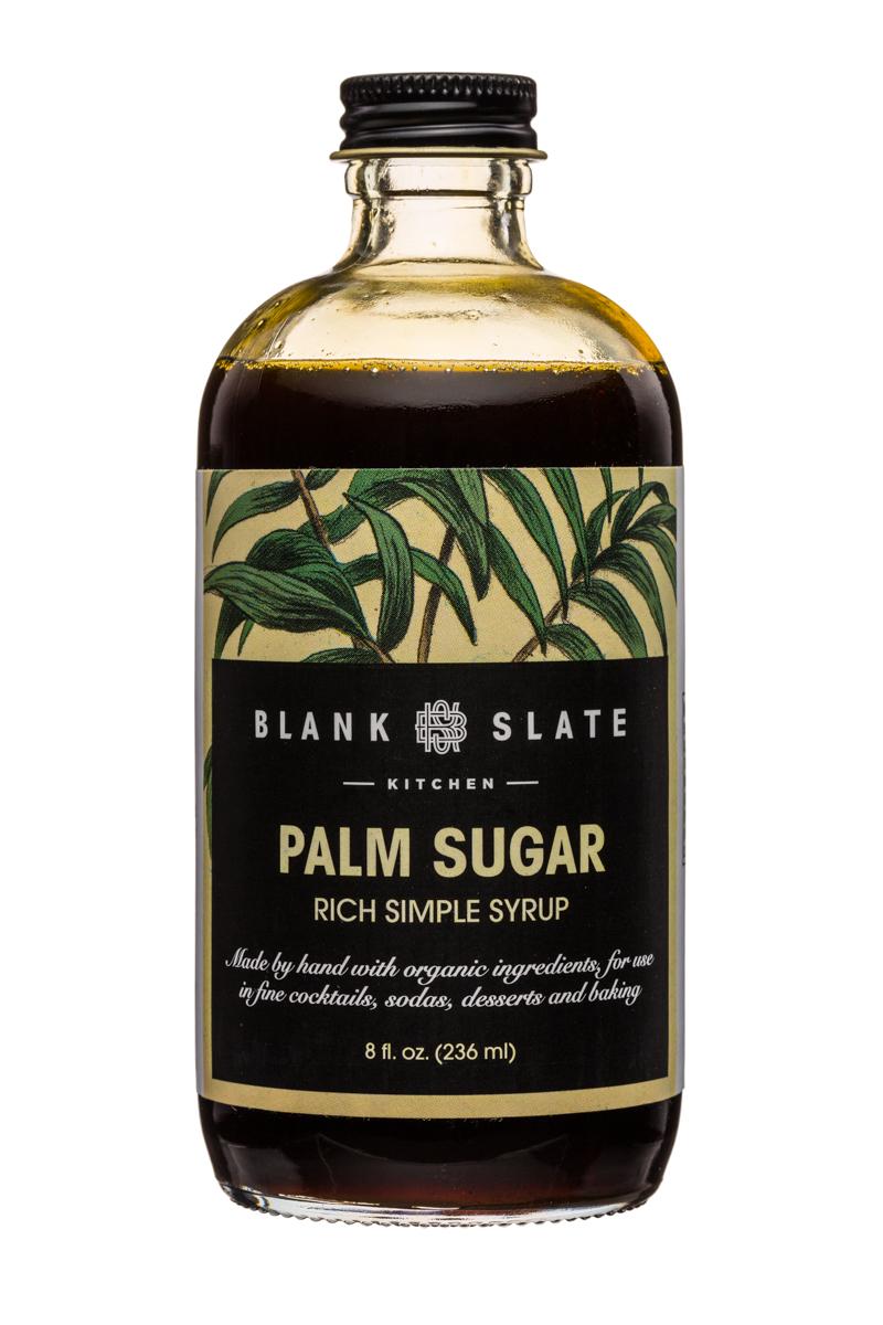 Blank Slate Kitchen: BlankSlate-8oz-SimpleSyrup-PalmSugar-Front