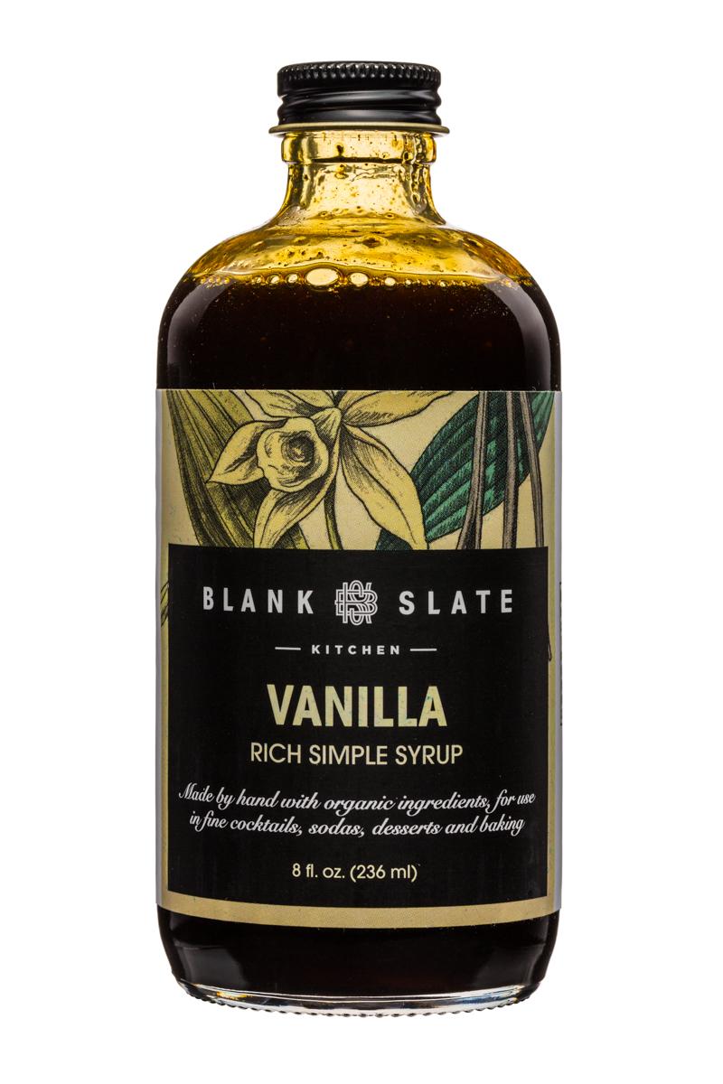 Blank Slate Kitchen: BlankSlate-8oz-SimpleSyrup-Vanilla-Front