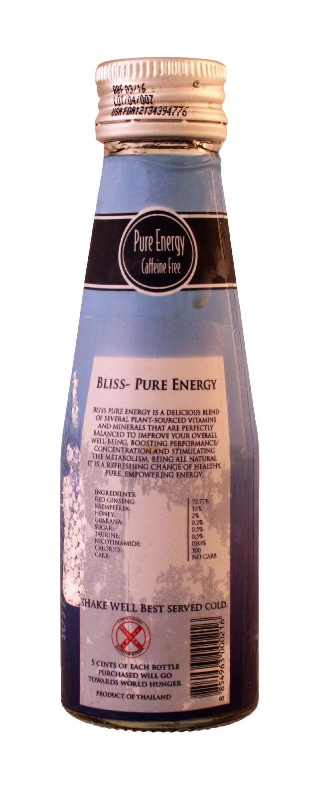 Bliss Natural Energy Drink: Bliss CaffeineFree Facts
