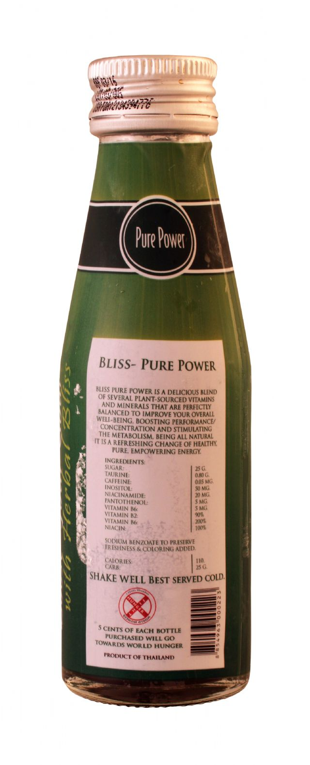 Bliss Natural Energy Drink: Bliss PurePower Facts