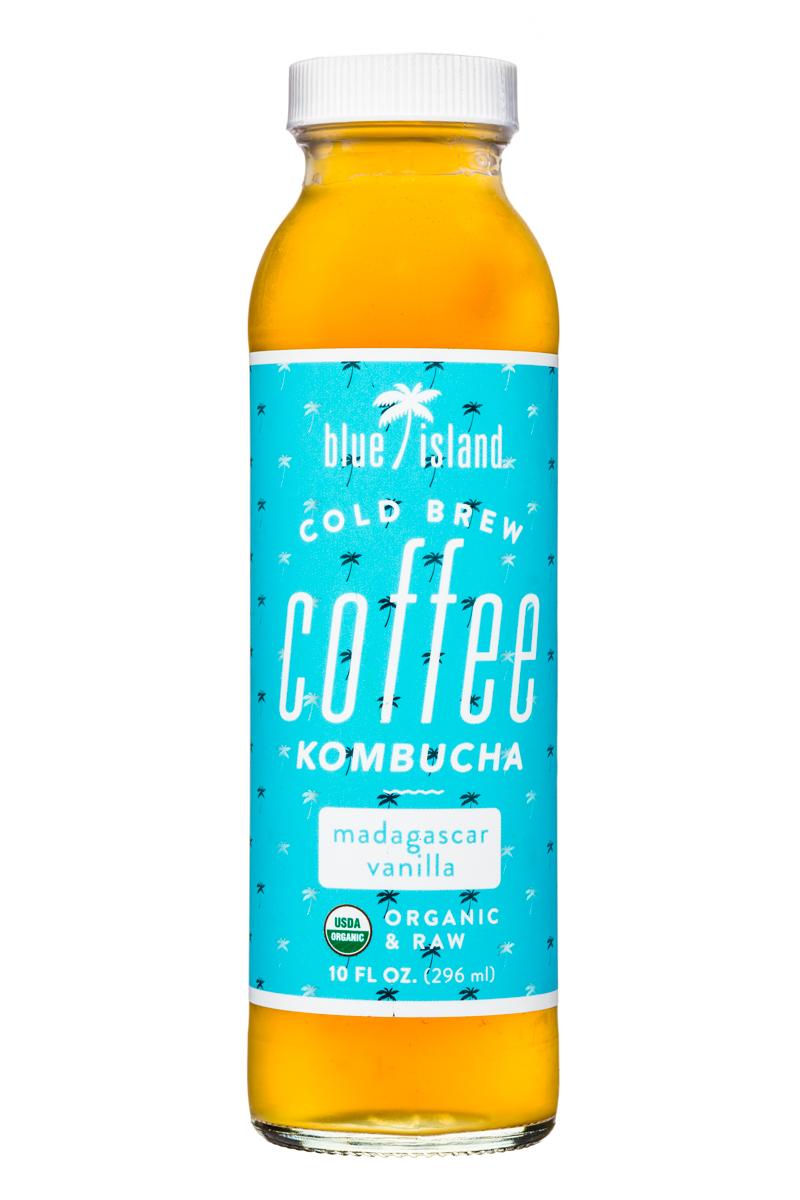 Blue Island Coffee: BlueIsland-ColdBrew-CoffeeKombucha-10oz-MadagascarVanilla-Front