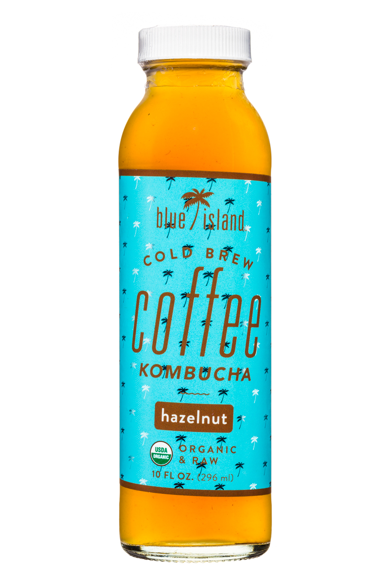 Blue Island Coffee: BlueIsland-ColdBrew-CoffeeKombucha-10oz-Hazelnut-Front